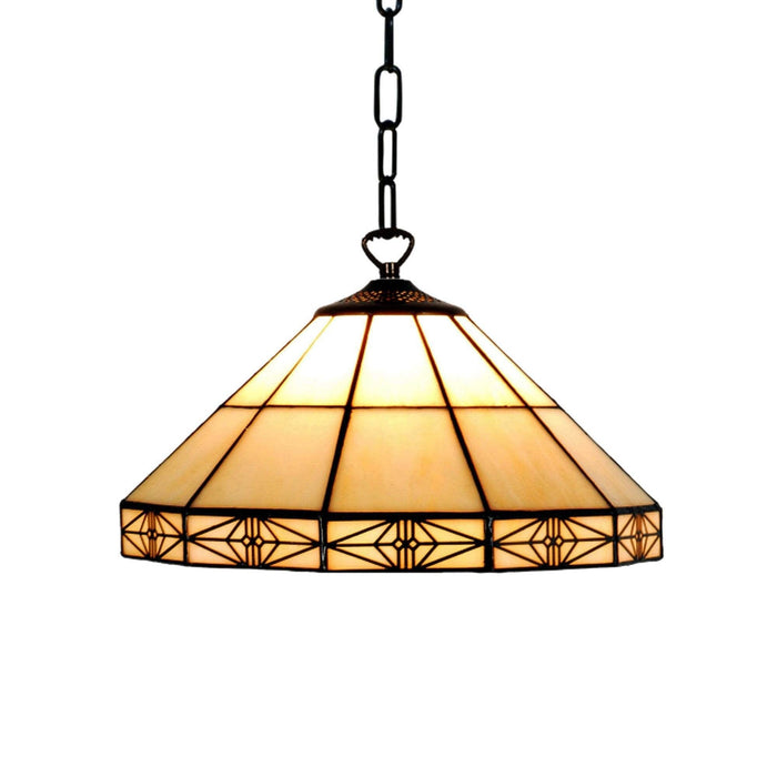 Dorchester Tiffany Ceiling Light, single bulb fitting