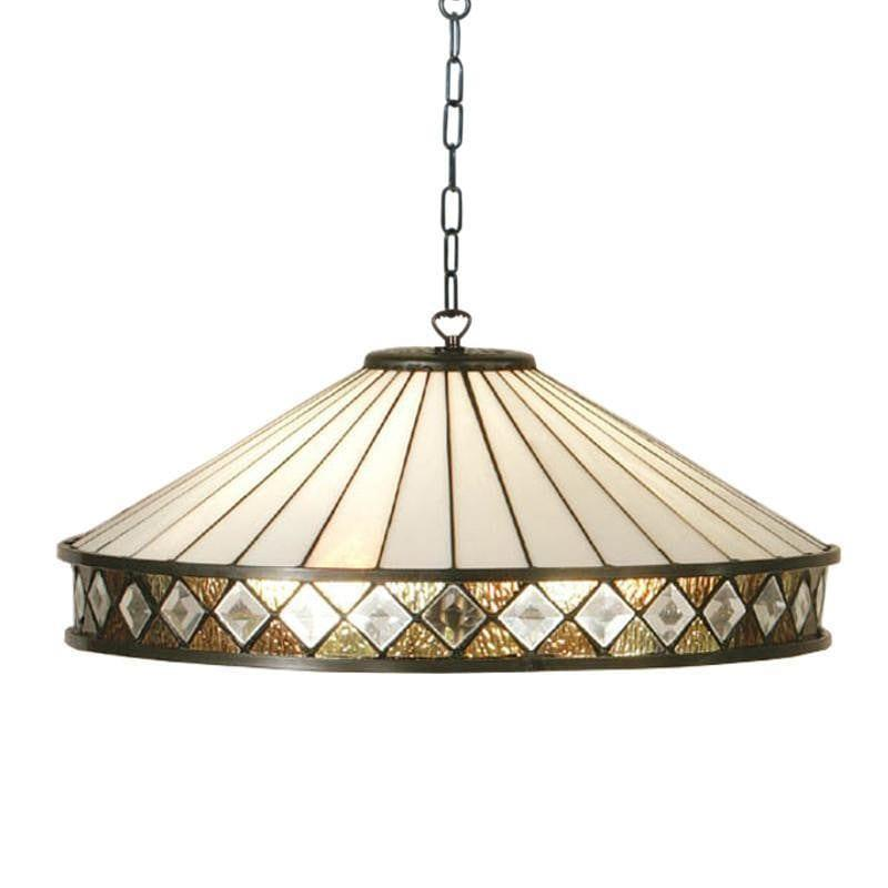 Tiffany Ceiling Pendant Lights - Fargo Medium Tiffany Ceiling Light 1 Bulb Fitting