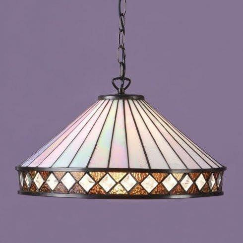 Tiffany Ceiling Pendant Lights - Fargo Tiffany Large Pendant Light,3 Bulb Fitting T004SH50 & SU02/3