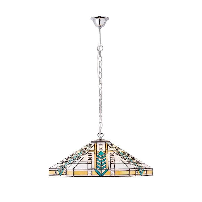 Lloyd large tiffany ceiling light 3 bulb nickel fitting tiffany ceiling pendant lights lloyd large 3 bulb tiffany ceiling pendant light nickel adjustable mozeypictures Image collections