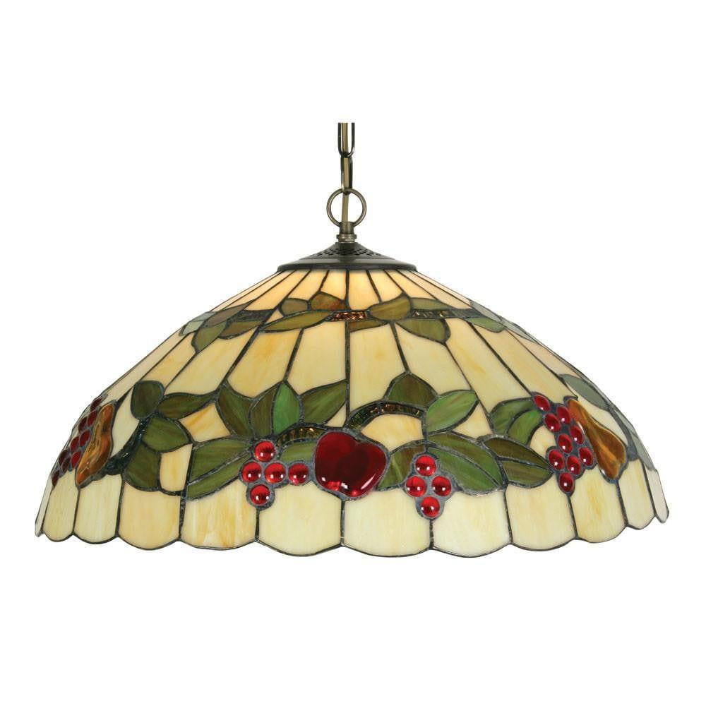 Fruit large tiffany ceiling light 1 bulb fitting aloadofball Image collections