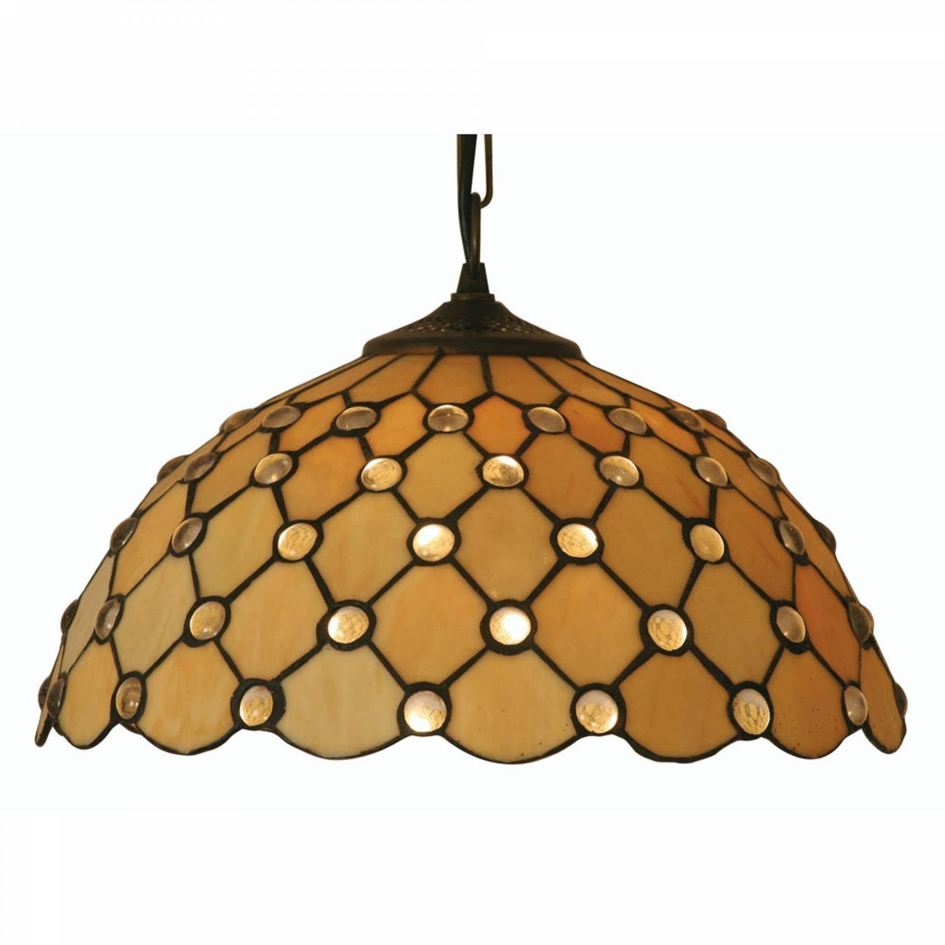 Tiffany Ceiling Pendant Lights - Oaks Tiffany Jewel Pendant Light,Adjustable Chain,Single Bulb Fitting OT 1562/14P