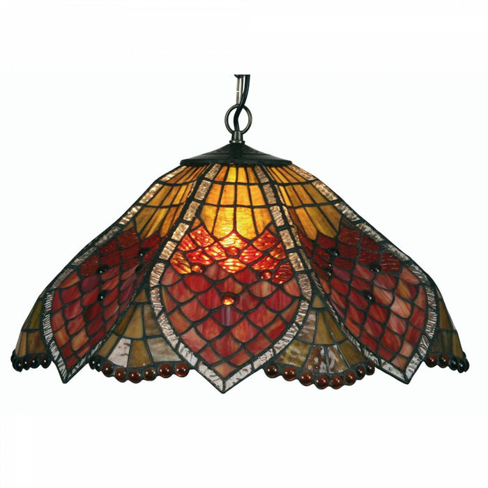 Orsino Medium Tiffany Ceiling Light, single bulb fitting