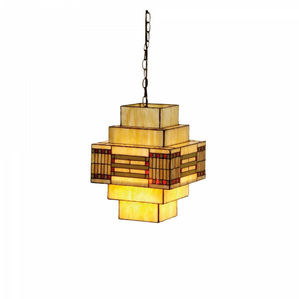 Tiffany Ceiling Pendant Lights - Odeon Tiffany Ceiling Pendant Light (adjustable Chain)