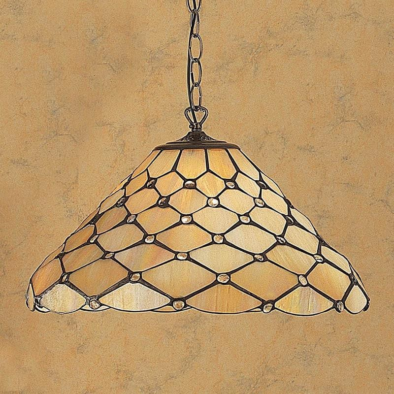 Tiffany Ceiling Pendant Lights - Pearl Tiffany Ceiling Pendant Light Single Bulb Fitting T06/M & SU02