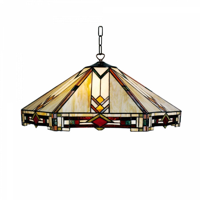 Prairie Large Tiffany Ceiling Light, single bulb fitting