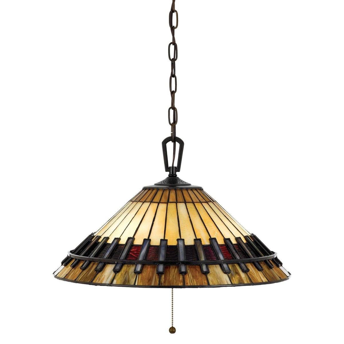 Tiffany Ceiling Pendant Lights - Quoizel Tiffany Chastain Ceiling Pendant Light QZ/CHASTAIN/P