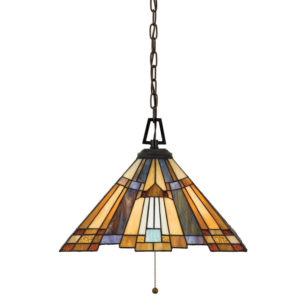 Tiffany Ceiling Pendant Lights - Quoizel Tiffany Inglenook Ceiling Pendant Light QZ/INGLENOOK/P/A
