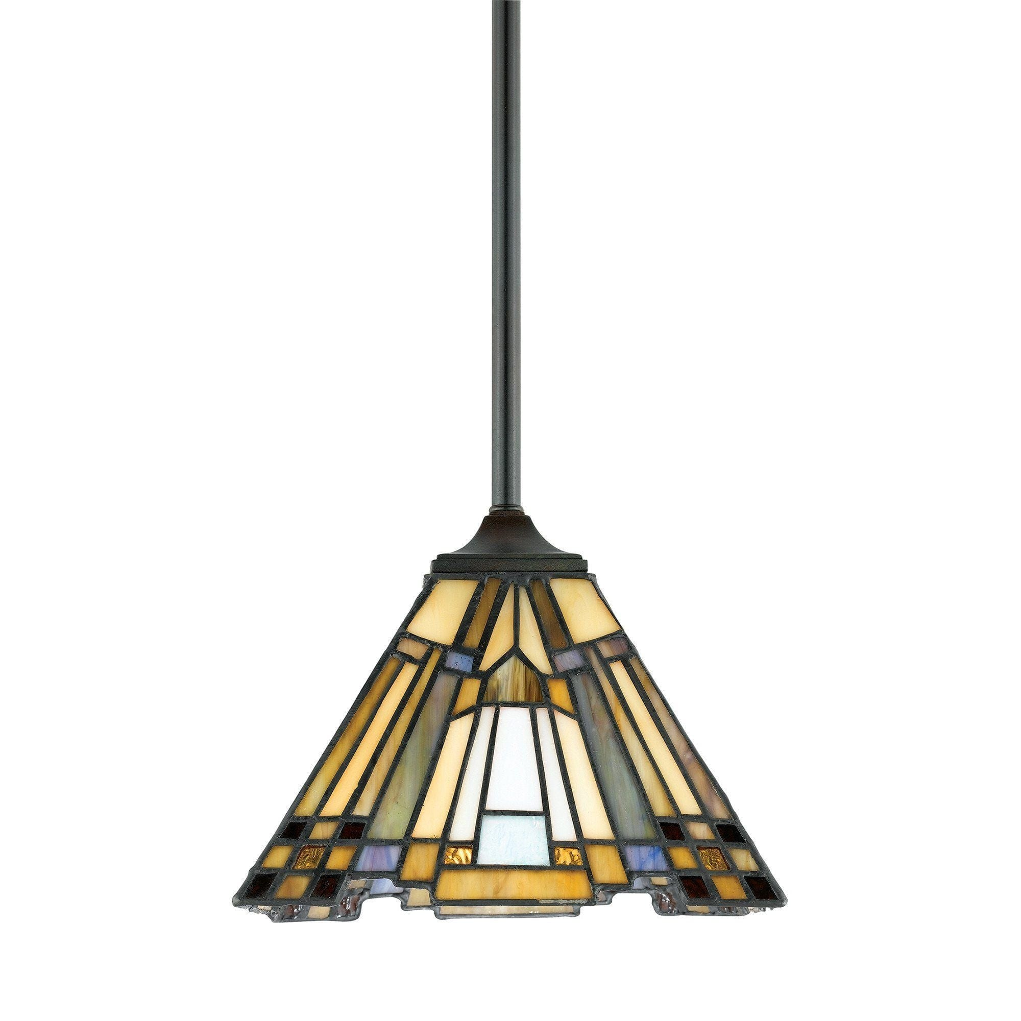 Quoizel inglenook small tiffany ceiling light aloadofball Image collections