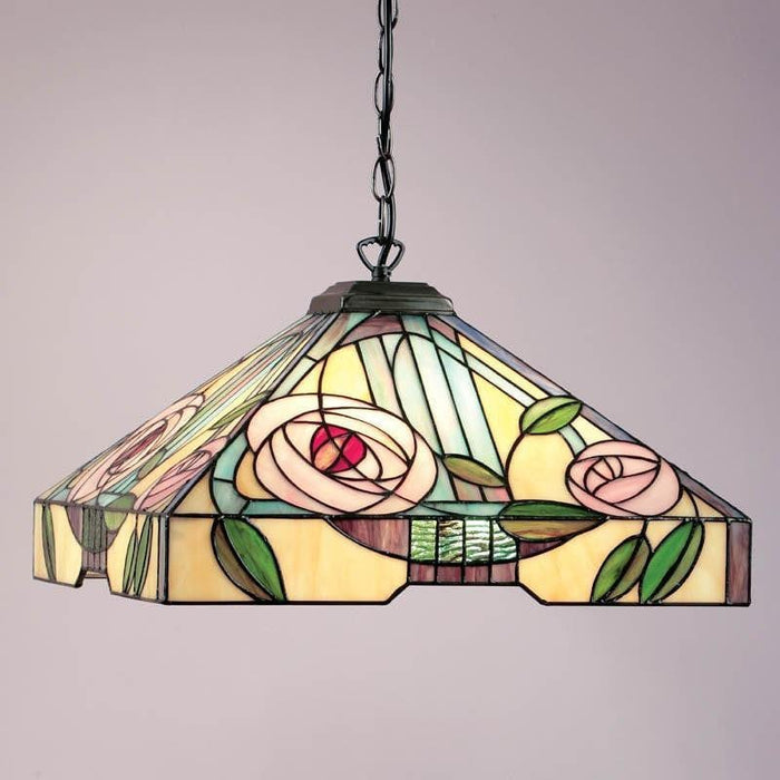 Willow Large Tiffany Ceiling Light, 1 bulb fitting