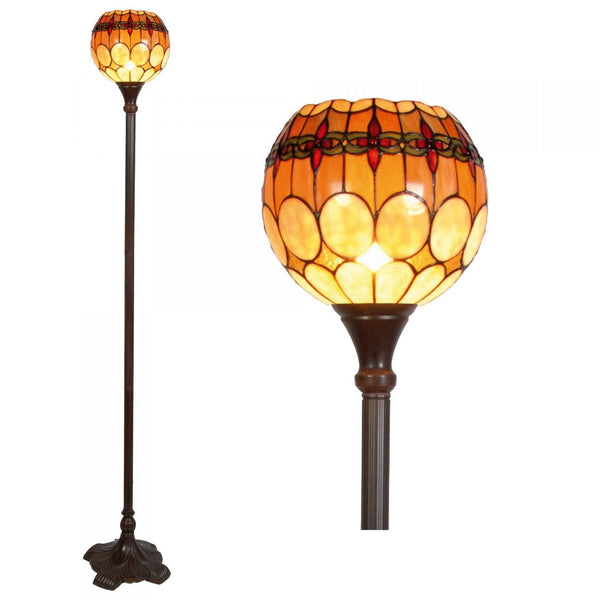 Tiffany Floor Lamps - Atlantic Tiffany Torchiere Uplighter Floor Lamp