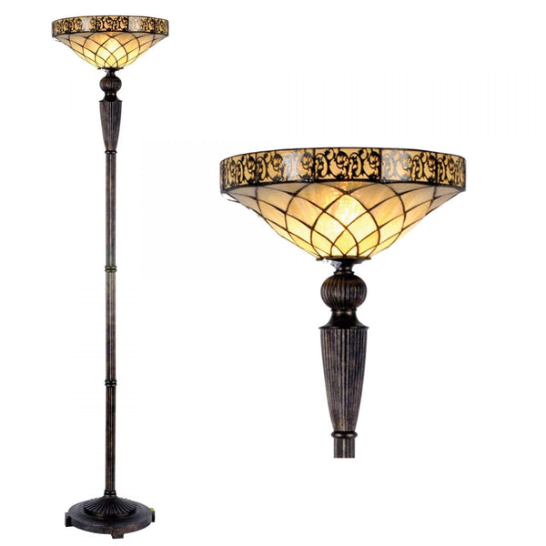 Tiffany Floor Lamps - Cambridge Tiffany Torchiere Uplighter