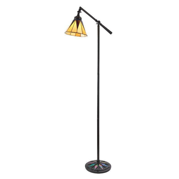 Tiffany Floor Lamps - Dark Star Tiffany Task Floor Lamp 74355