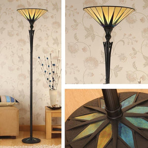 Tiffany Floor Lamps - Dark Star Tiffany Uplighter Floor Lamp 64042