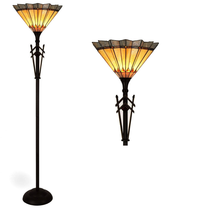 Memphis Torchiere Tiffany Floor Lamp