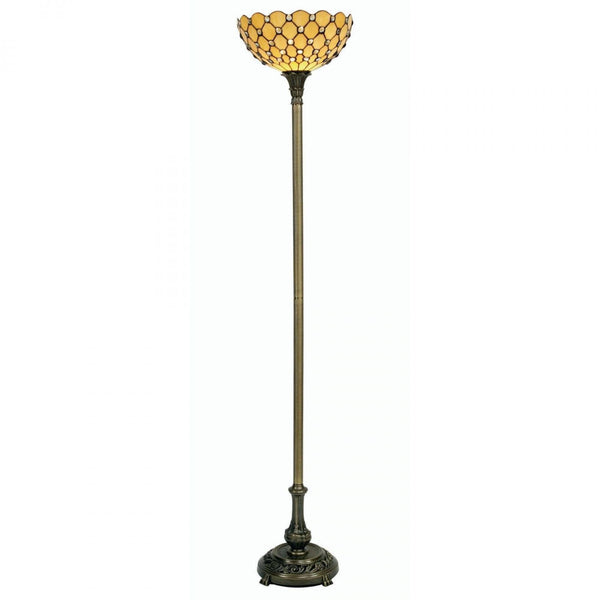 Tiffany Floor Lamps - Oaks Tiffany Jewel Torchiere Uplighter Lamp OT 1562 FS