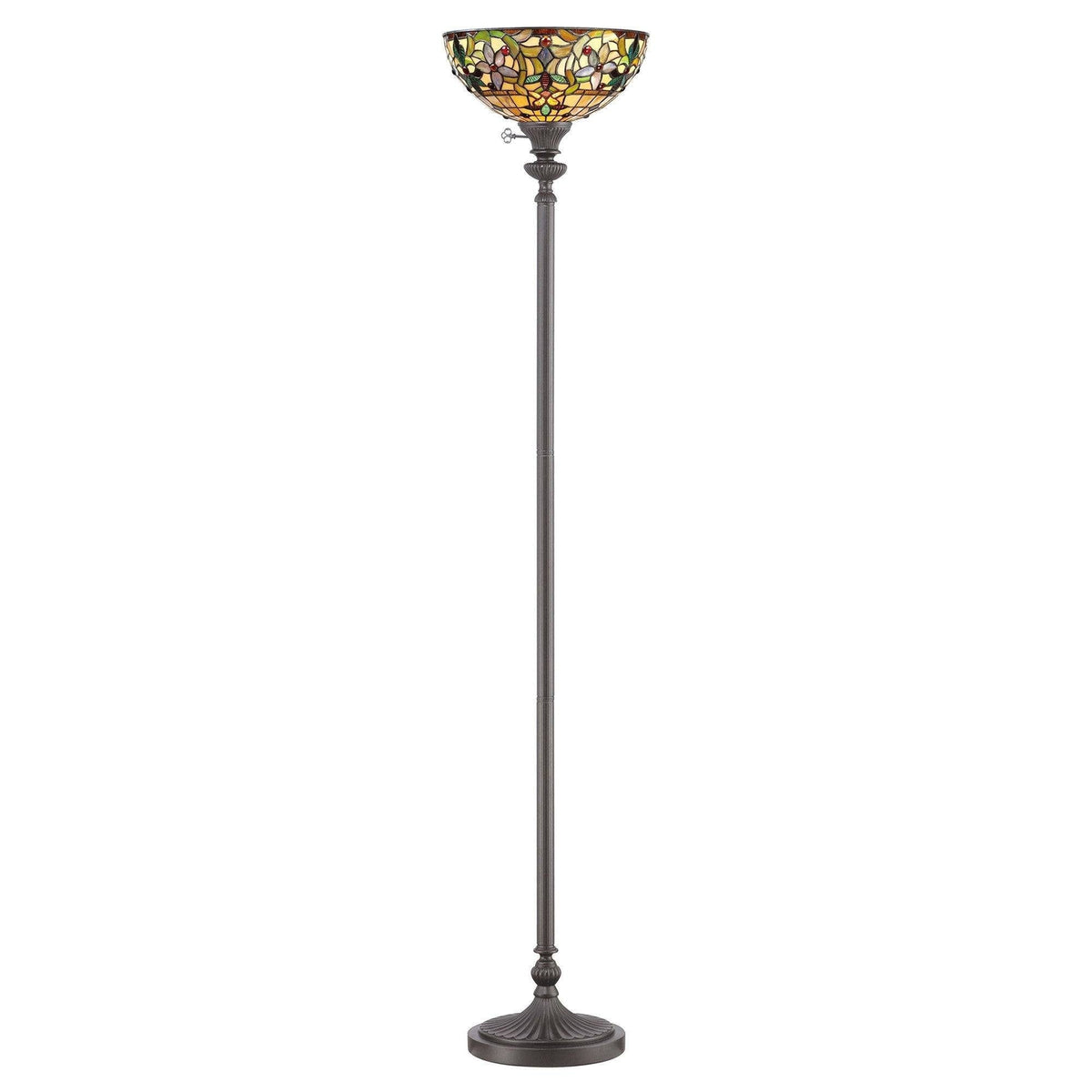 Tiffany Floor Lamps - Quoizel Tiffany Kami Floor Lamp QZ/KAMI/UL