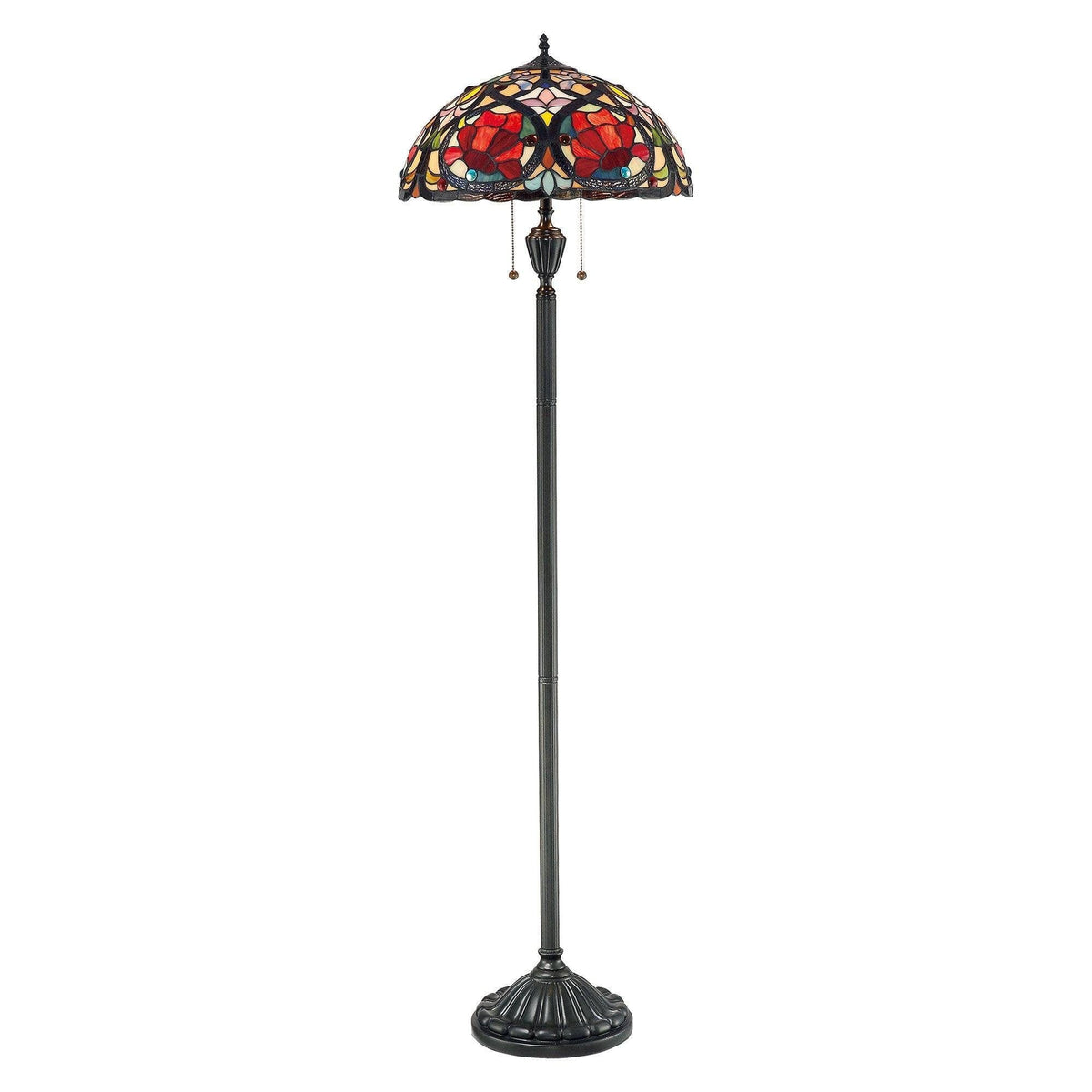 Tiffany Floor Lamps - Quoizel Tiffany Larissa Floor Lamp QZ/LARISSA/FL