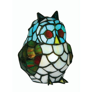 Tiffany Gift Table Lamps - Oaks Tiffany Owl Table Lamp OT 850 OWL