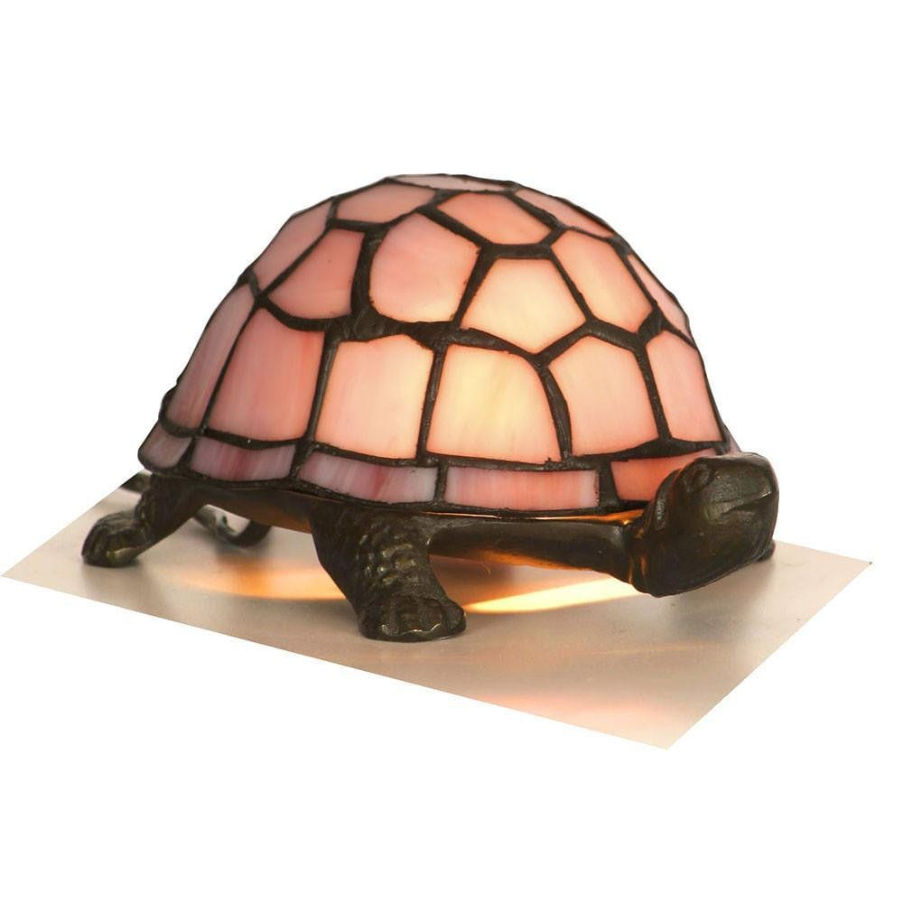 Tiffany Gift Table Lamps - Oaks Tiffany Pink Tortoise Table Lamp OT 950 PI