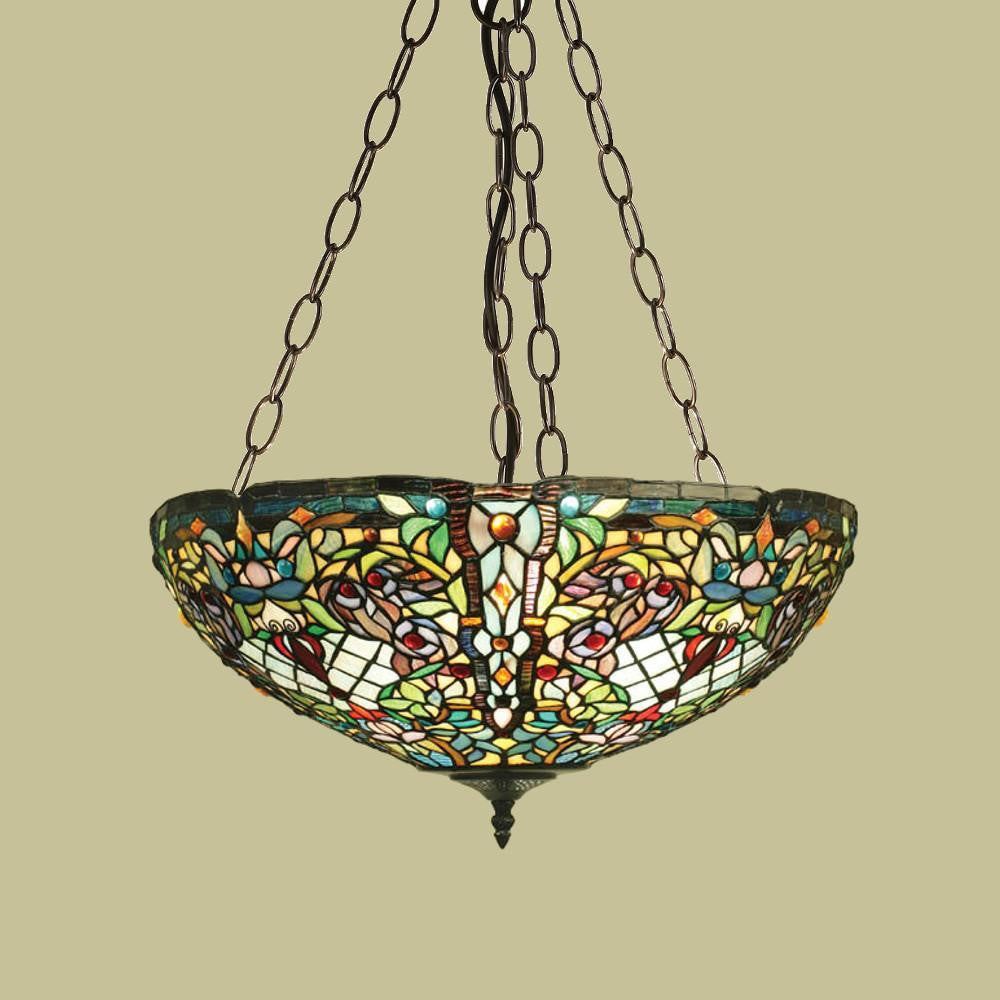 Anderson large inverted tiffany ceiling light