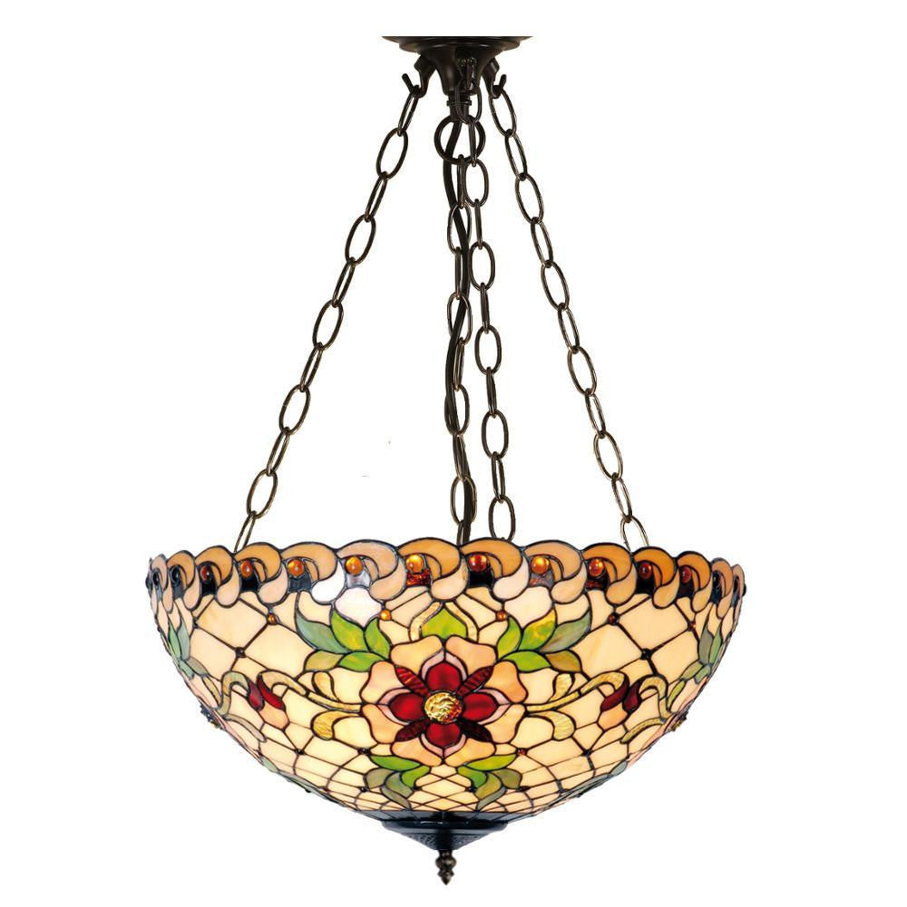 Inverted Ceiling Pendant Lights - Angelique Large Inverted Pendant Light (adjustable Chain)