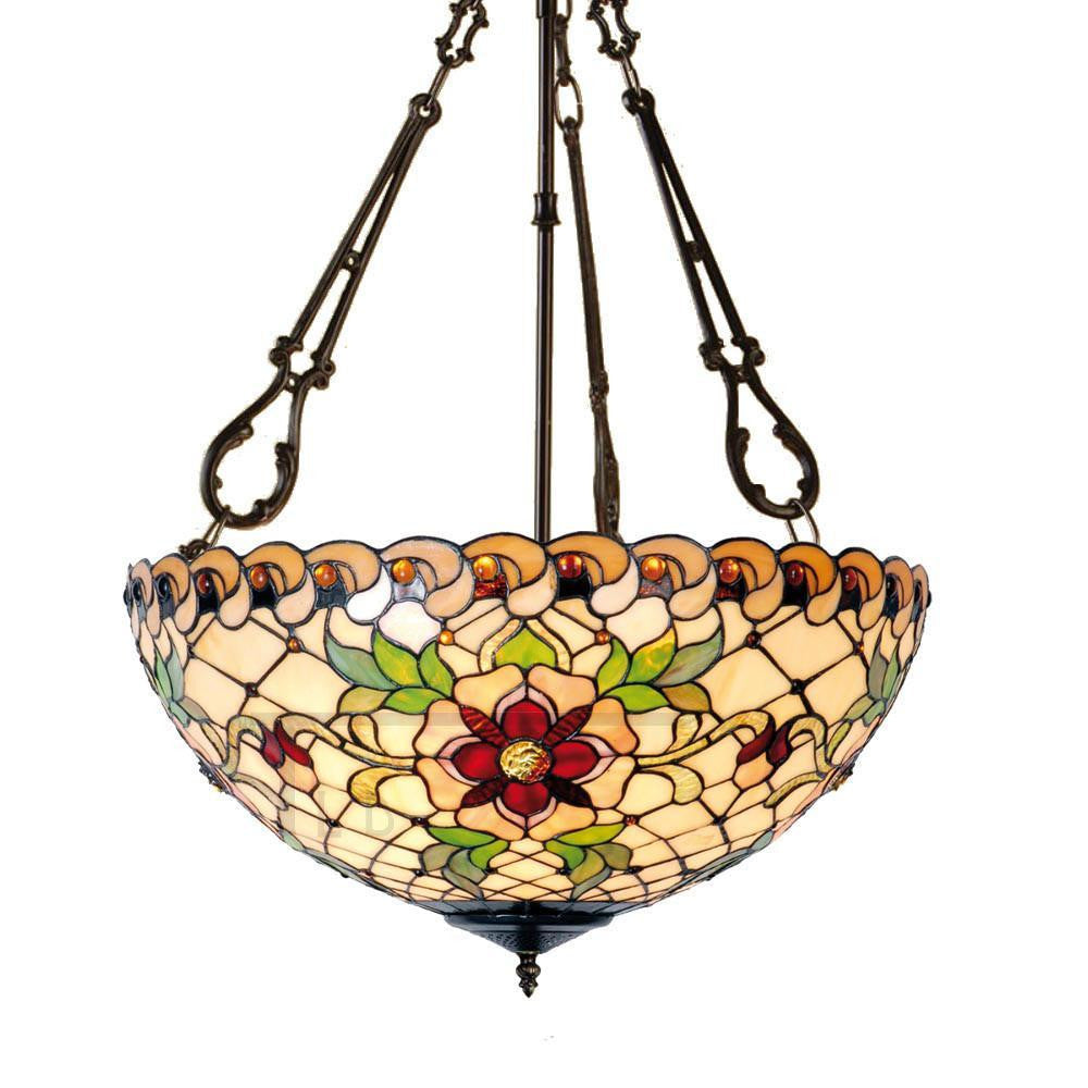 Inverted Ceiling Pendant Lights - Angelique Large Inverted Pendant Light (fancy Chain)