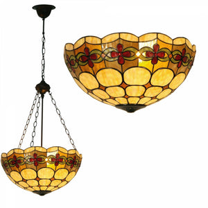 Tiffany Inverted Ceiling Pendant Lights - Atlantic Inverted Tiffany Ceiling Light