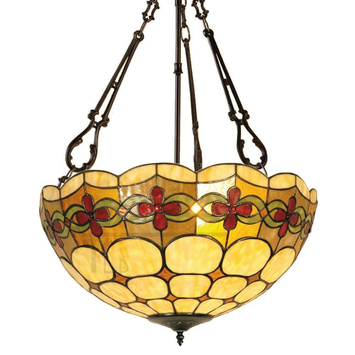 Atlantic Large Inverted Tiffany Ceiling Light