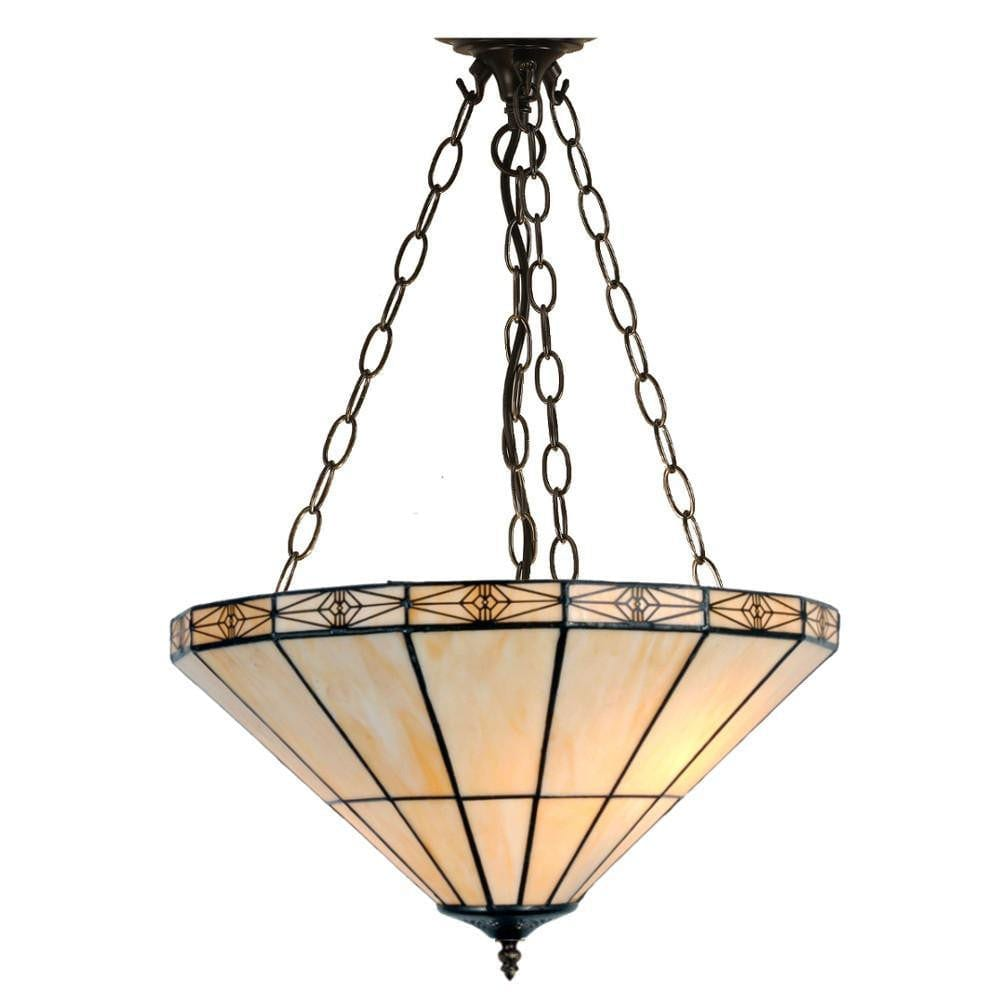 Tiffany Inverted Ceiling Pendant Lights - Dorchester Tiffany Inverted Pendant Light (adjustable Chain)  sc 1 st  Tiffany Lighting Direct & Dorchester Inverted Tiffany Ceiling Light