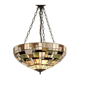 Tiffany Inverted Ceiling Pendant Lights - Falling Water Tiffany Inverted Pendant Light (adjustable Chain)