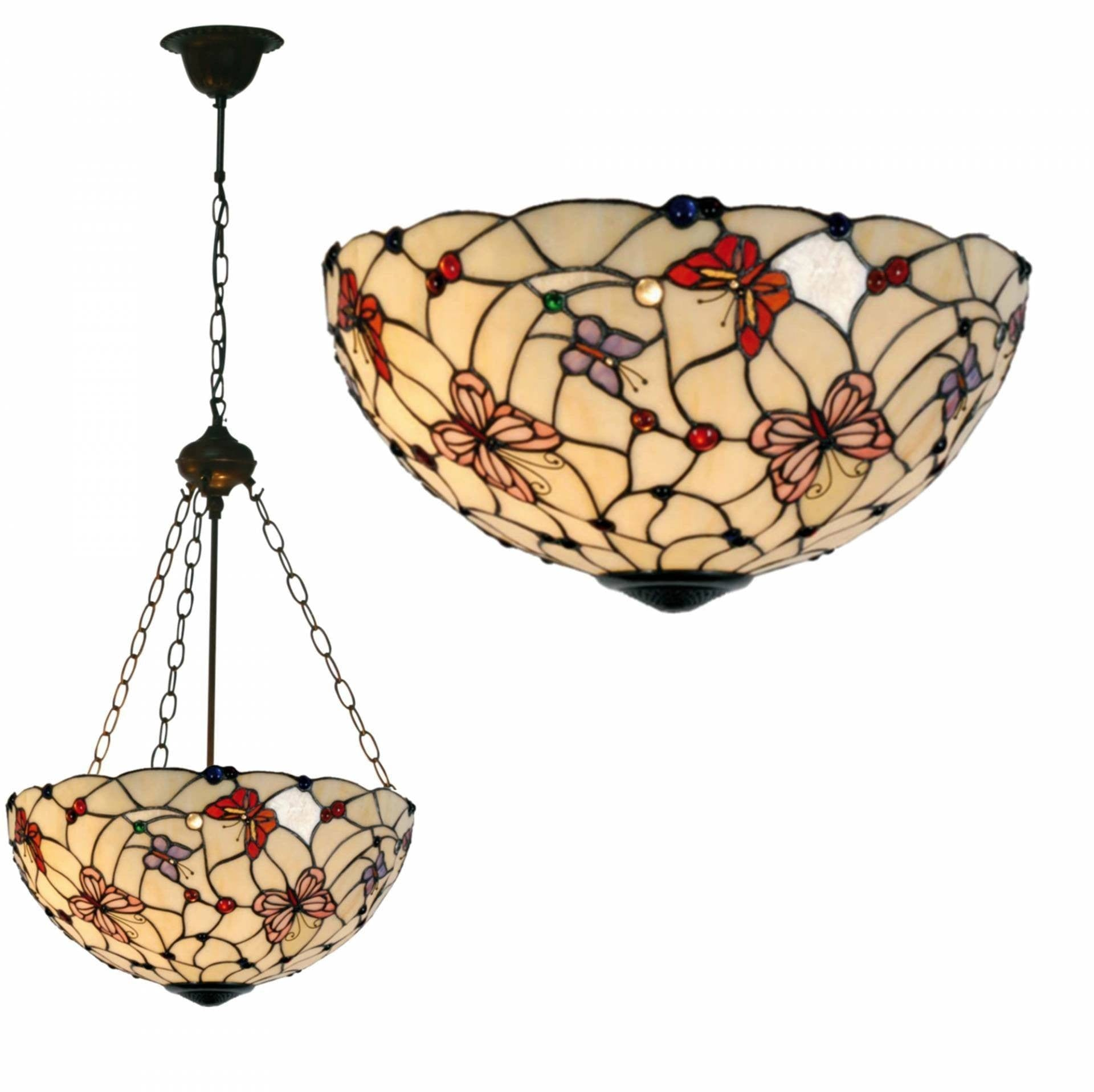 London inverted tiffany ceiling light fancy chain aloadofball Gallery