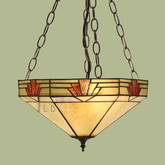 Nevada Medium Inverted Tiffany Ceiling Light