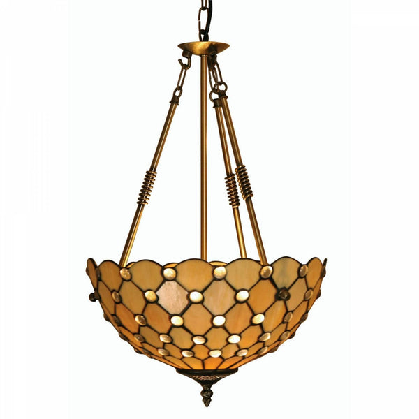Inverted Ceiling Pendant Lights - Oaks Jewel Inverted Pendant Light OT1562/14R