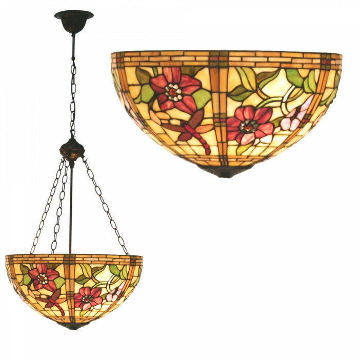 Pavot Inverted Tiffany Ceiling Light