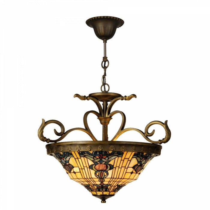Regency Inverted Tiffany Ceiling Light 5LL-5551