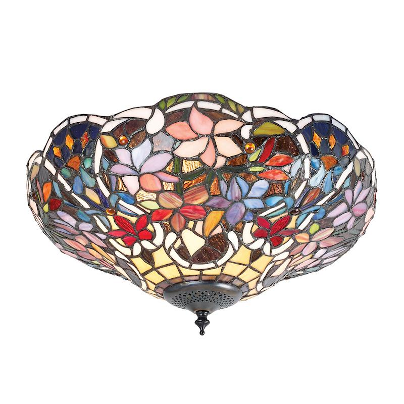 Sullivan Flush Tiffany Ceiling Light
