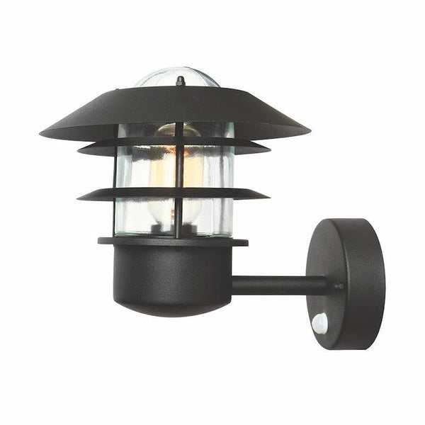 Elstead Helsingor Black Outdoor PIR Wall Light by Elstead Outdoor Lighting