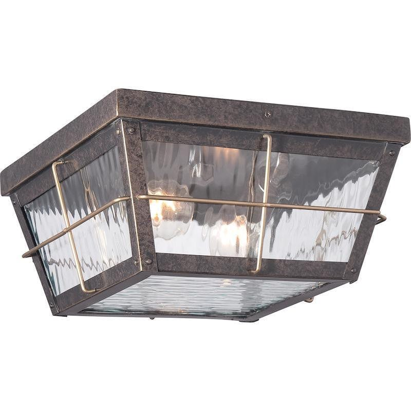Quoizel Cortland Outdoor Flush Light by Elstead Outdoor Lighting