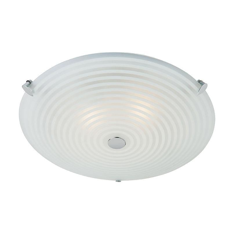 Roundel 2lt Flush Frosted Clear Patterned Glass With Chrome Plate Fl Tiffany Lighting Direct