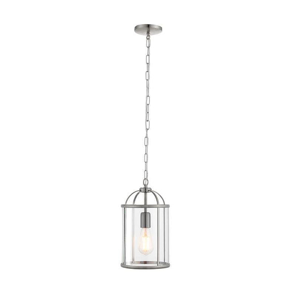 Tiffany Lamps & Lighting Lambeth 1LT chrome & Clear Glass Pendant Ceiling Light 70323by Endon