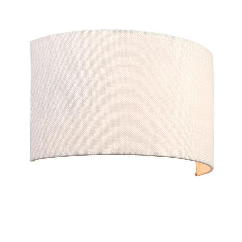OBI 1LT Vintage White Linen Wall Light 70334