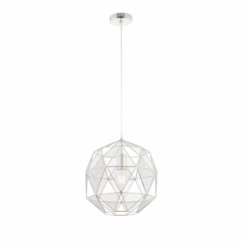 Armour Chrome 1lt Pendant by Endon Lighting