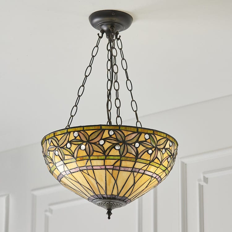 Ashtead Medium Inverted Tiffany Ceiling Light