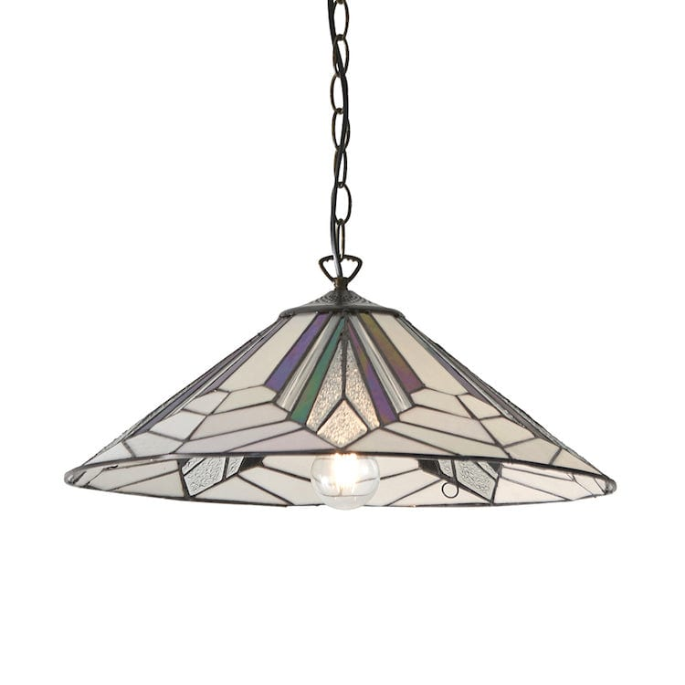 Tiffany Ceiling Pendant Lights - Astoria Large Tiffany Ceiling Light 63938 One Bulb Fitting