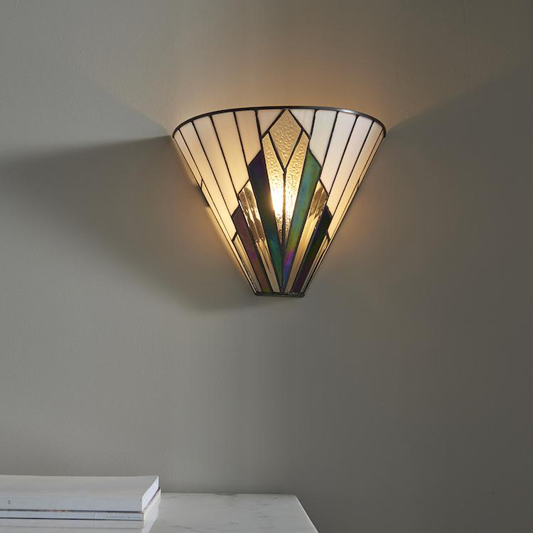 Tiffany Wall Lights - Astoria Tiffany Wall Light 63940 2
