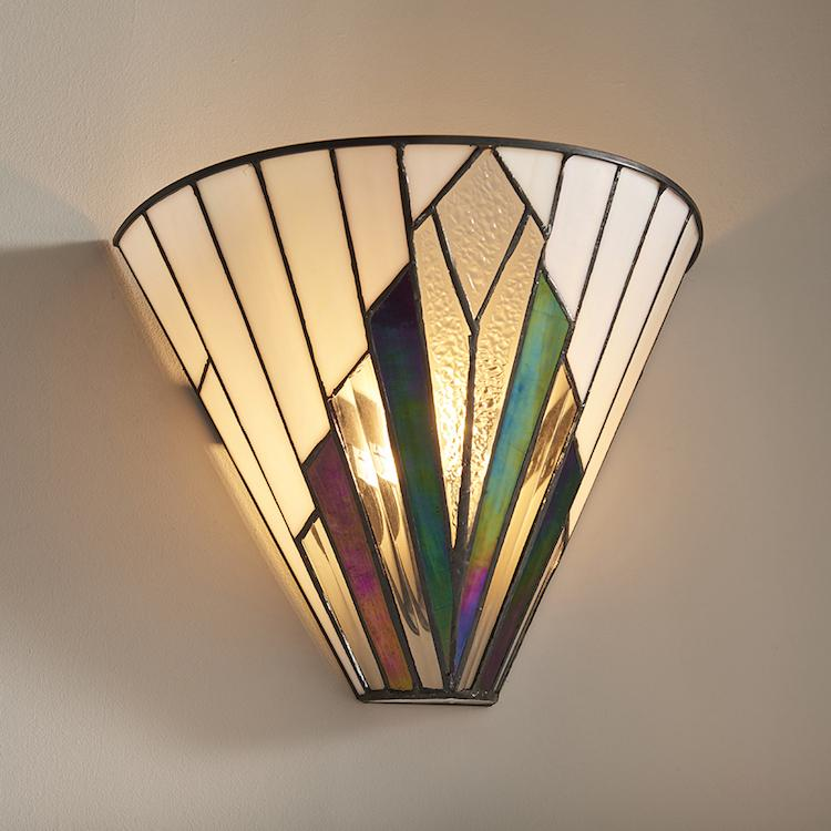 Tiffany Wall Lights - Astoria Tiffany Wall Light 63940 3