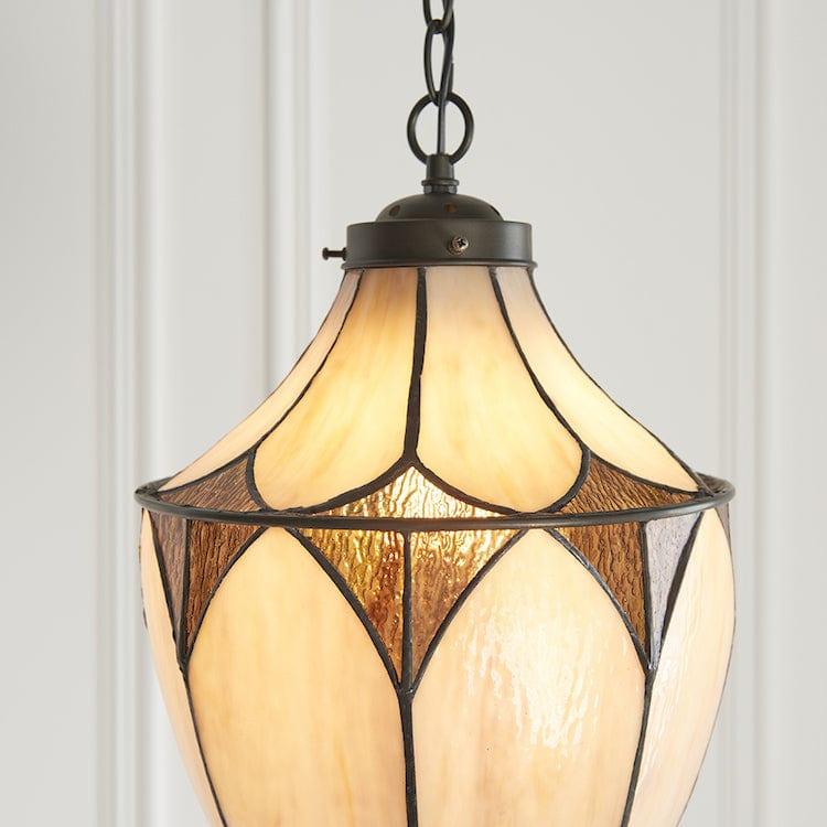 Brooklyn Medium Tiffany Acorn 1 Light Pendant Light 63974