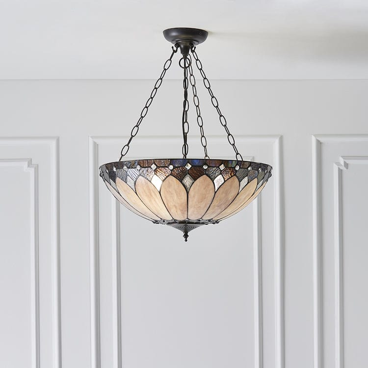Brooklyn Large Inverted Tiffany Ceiling Light