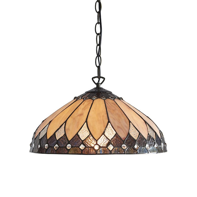 Tiffany Ceiling Pendant Lights - Brooklyn Medium Tiffany Ceiling Light,Single Bulb 63977